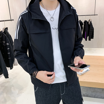 2020 spring mens new trend jacket Korean version work clothes casual all-around clothing