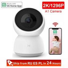Xiaomi-cámara IP inteligente 2K 1296P 1080P HD, Webcam A1, WiFi, visión nocturna, cámara de vídeo de ángulo de 360 grados, Monitor de seguridad de bebé, App Mi home