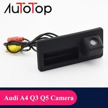 Autotop câmera de visão traseira do carro reverso backup para audi a4 a6 a3 q3 q5 vw golf passat tiguan jetta shara reversa estacionamento câmera