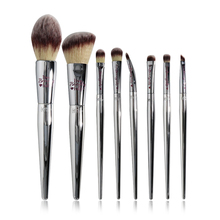 Professional 8/9/19pcs Makeup Brushes Set Live Beauty Fully Silver IT Cosmetic Brush Kit Face Eyes Makeup Tool Collection
