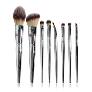 Image 1 - Professional 8/9/19pcs Makeup Brushes Set Live Beauty Fully Silver IT Cosmetic Brush Kit Face Eyes Makeup Tool Collection