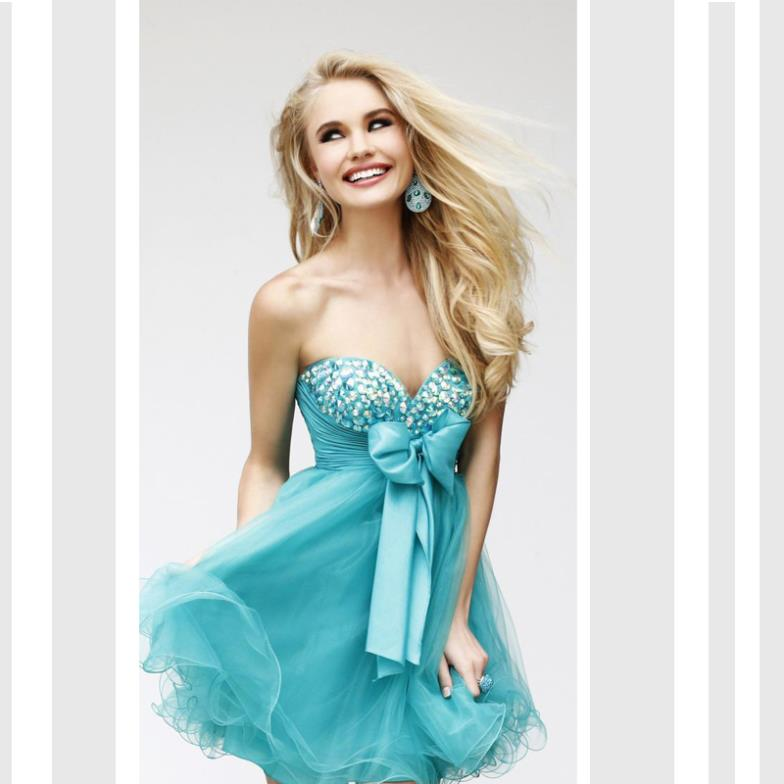 free shipping 2016 vestidos formal evening gowns puff brides maid dresses crystal beaded short party prom gown Cocktail Dresses