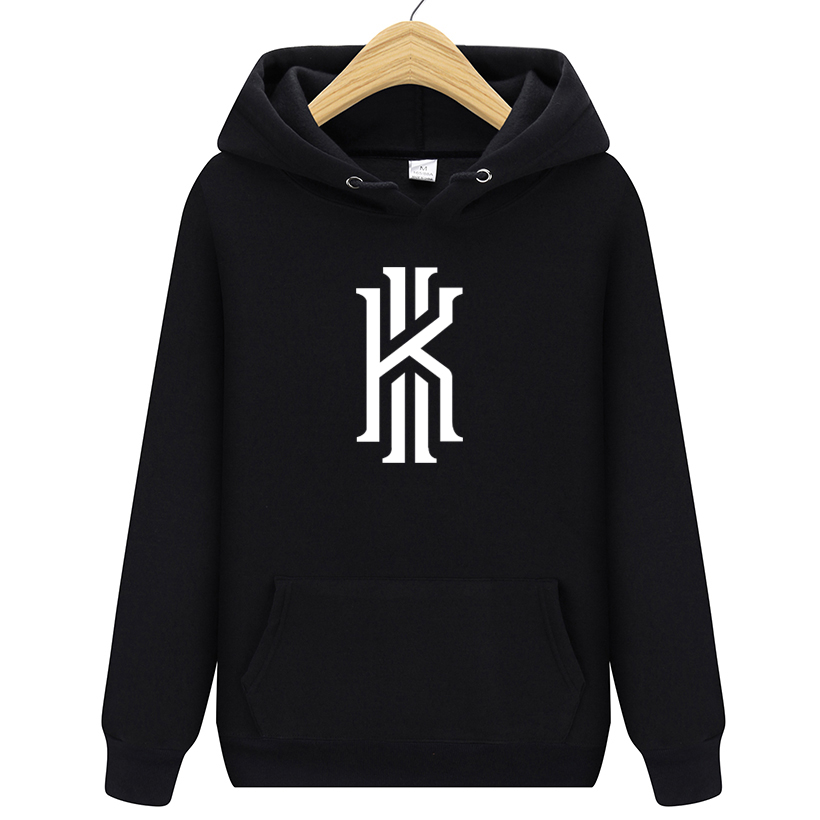 New Kyrie Irving Printed Hooded Hoodies Men Autumn Winter Cotton Long Sleeve Hip Hop Kyrie Irving Streetwear Clothing