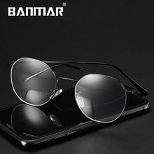 BANMAR Alloy Computer Glasses Anti Blue Rays Radiation Optical Print Square Eye Frames Men Women 5025