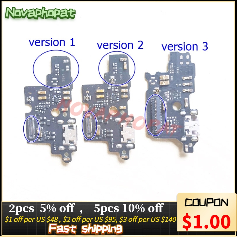 Novaphopat Best For ZTE Blade V8 Mini USB Dock Charger Charging Port Connect Connector Flex Cable Microphone Board +tracking