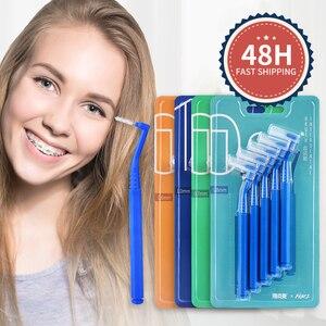 Image 2 - Y kelin 10 pièces 0.6 1.0mm adultes brosse interdentaire propre entre les dents fil dentaire cure dents outil de soins bucco dentaires orthodontique