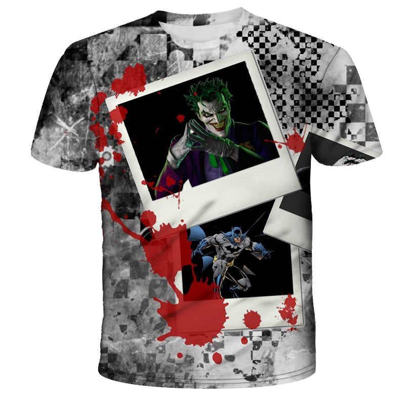 Новое поступление модная футболка для мужчин/женщин 3D печать Дизайн Джокер серия узор футболки Harajuku футболка уличная Летняя топы