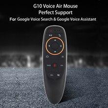 Bundwin G10s 2.4GHz Mini uzaktan kumanda için kablosuz sinek hava fare Android Tv kutusu için ses kontrolü ile Gyro algılama oyunu