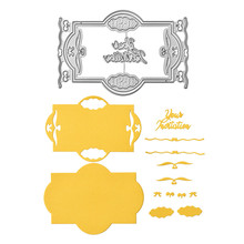 DiyArts Your Matation Frame Metal Cutting Dies Scrapbooking for Card Making DIY Embossing Lace