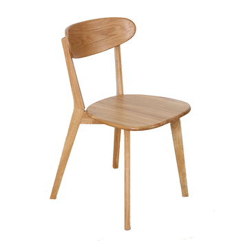 Dining Chair Solid Wood Simple Single Leisure Multifunctional Chair Home Simple White Oak Backrest