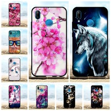 FOR Case Huawei P20 Lite Silicone Phone Cover 3D Cases Soft Flower Cute Coque For 5.84 P20Lite