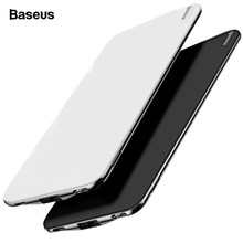 Baseus ultra magro 10000 mah power bank para iphone xiao mi usb tipo c rápido 10000 mah powerbank portátil carregador de bateria externa(China)