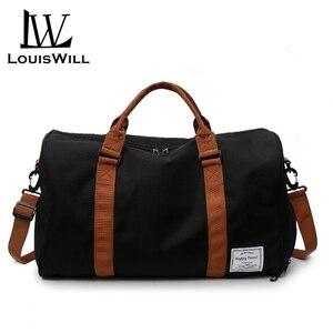 LouisWill Women Travel Bags Waterproof Weekender Bags Oxford Cloth Luggages Handbags Shoulder Bags Traveling Bags Shoes