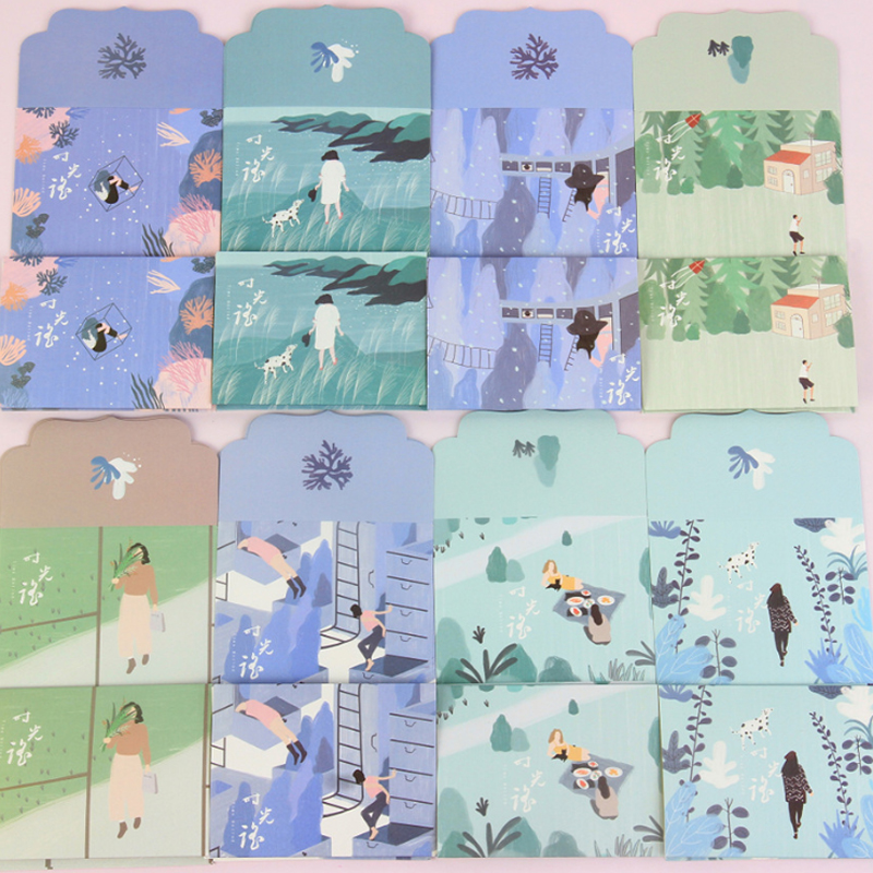 24packs/lot Lovely Time-shake Blessing Letter Paper Pad Writing Office School Supplies