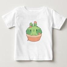 2020 New Cactus Pattern Print T-Shirt Kids Tshirt Cotton Summer Top Shirts Boy/girl T Shirt Baby Short Sleeve T-shirt Tops fashionable sochi faulty olympic rings pattern cotton t shirt black xl