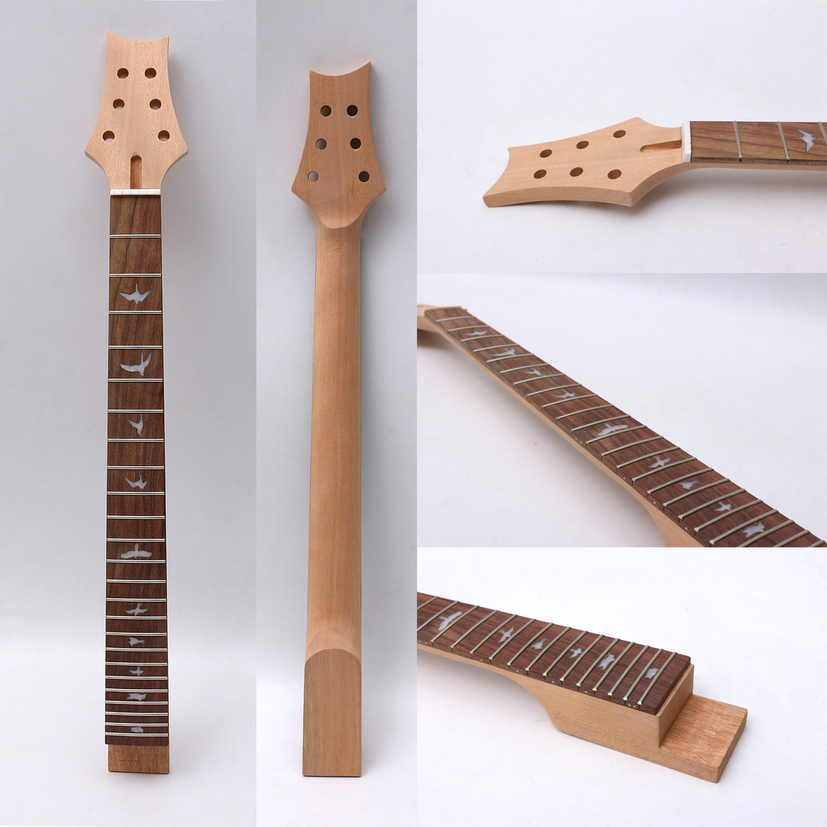 Fit Diy Electric Guitar Neck 24fret 25.5''inch 648mm Mahogany+Rosewood Fingerboard Guitar Project Unfinished
