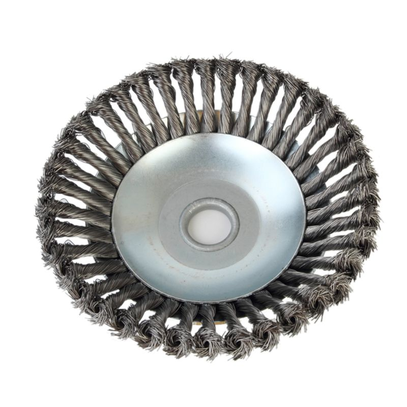 25MM Aperture 8 Inch Steel Wire Weeding Brush Twisted Wire Bowl Type Rotating Wire Wheel Weed Trimmer Brush Hotselling