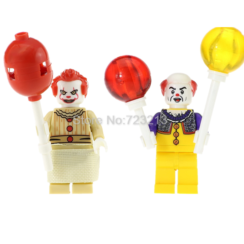 Single Sale Movie The Clown Pennywise Figure Set Stephen King's It Joker Building Blocks Model Kits Bricks Toy Legoing