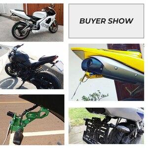 Image 5 - دراجة نارية الخلفية لوحة ترخيص جبل حامل و بدوره إشارة ضوء لهوندا Kawasaki Z750 Z800 لياماها MT07 MT09 MT10 R1 3