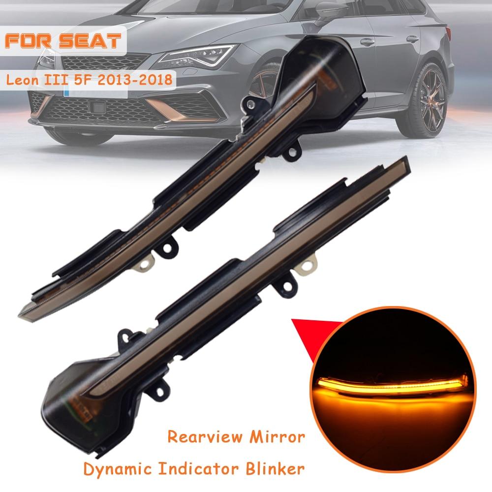 Repeater Light LED Dynamic Turn Signal Light Fob For SEAT Leon III Mk3 5F ST FR Cupra 13-18 Ibiza Mk5 V KJ1 Arona KJ7 17-18
