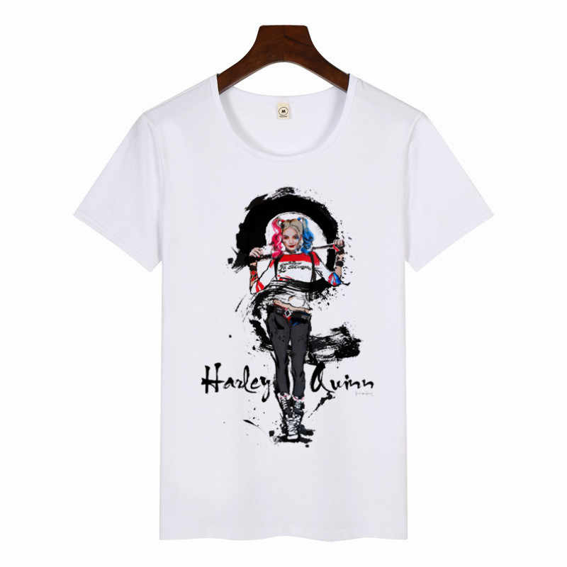 Harley Quinn Stampa T Shirt 2019 delle Donne Harajuku Il Joker Shirt Graphic Magliette Donne casual T-Shirt di Moda Magliette e camicette Il venerdì nero