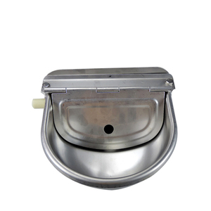 Image 3 - Farming Pet Sheep Dog Horse Automatic Float Cattle Cow Water Bowl Drink With Drain Hole Goat Trough Supplies Stainless Steel