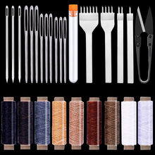 Sewing-Tools for Working 26pcs Waxed Stitching Hand-Hole-Punches Thread Lacing Carving