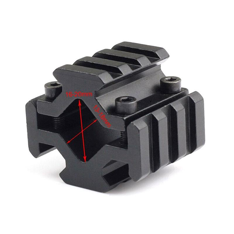 Tactical Barrel Mount 4 Rail 3 Slots On Barrel Of 20 Mm Picatinny Weaver Bipod Rifle Scope Rail Mount Hunting Accessories