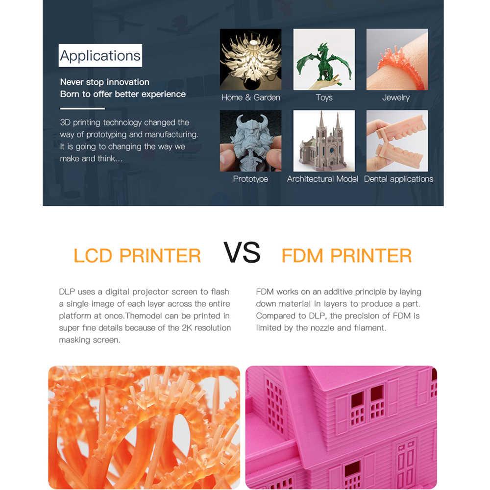 Impresora ANYCUBIC Photon S 3d Dual Z axis Quick Slice impresora 3d de resina impressora de alta precisión impresora 3d