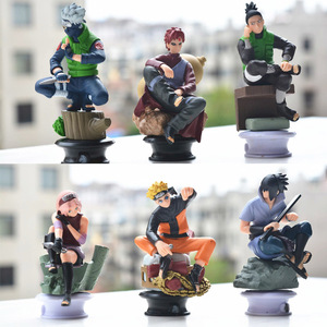 Image 3 - 6 PCS PVC Anime Naruto Action Figures Dolls Set New Uzumaki Naruto Uchiha Sasuke Hatake Kakashi Model Collection Gift Toys