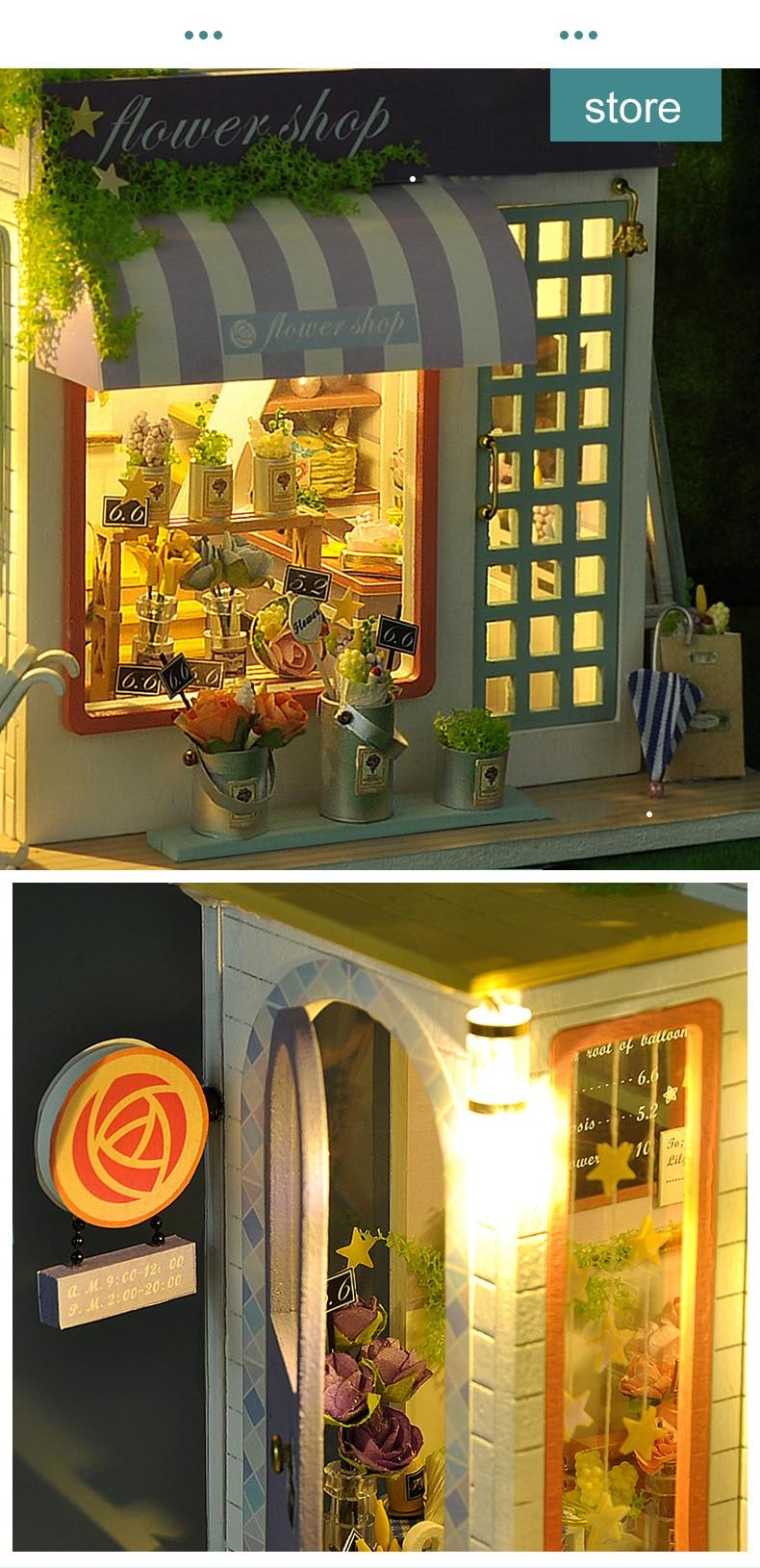 H27654b7de357449fa2bd1152692ec9d7Z - Robotime - DIY Models, DIY Miniature Houses, 3d Wooden Puzzle