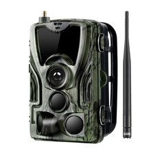 AMS-Hc-801M Hunting Trail Camera 2G Sms/Mms/Smtp Wild Camera 0.3S Trigger Photo Traps for Animal 16Mp Hd Night-Version Scout Cam(China)