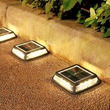 12 LED cuadrado planta Solar luz al aire libre del Jardín camino lámpara enterrada Solar Patio piso patio, césped luces de cubierta