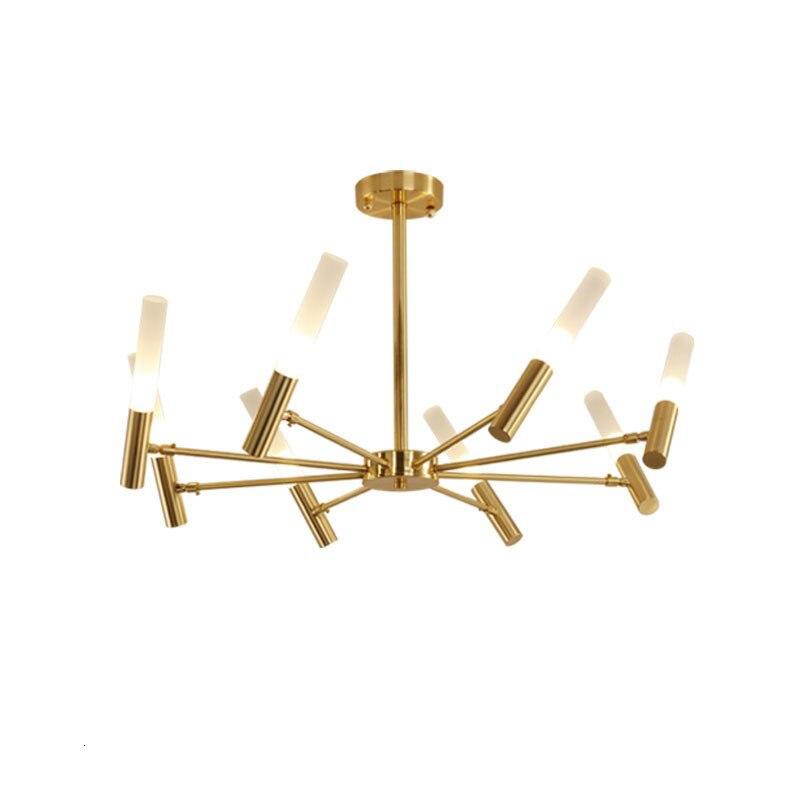 6 Modern Gold Pendant Lamp With Heads Candle Shape Lamparas De Techo Colgante Hanging Lamp