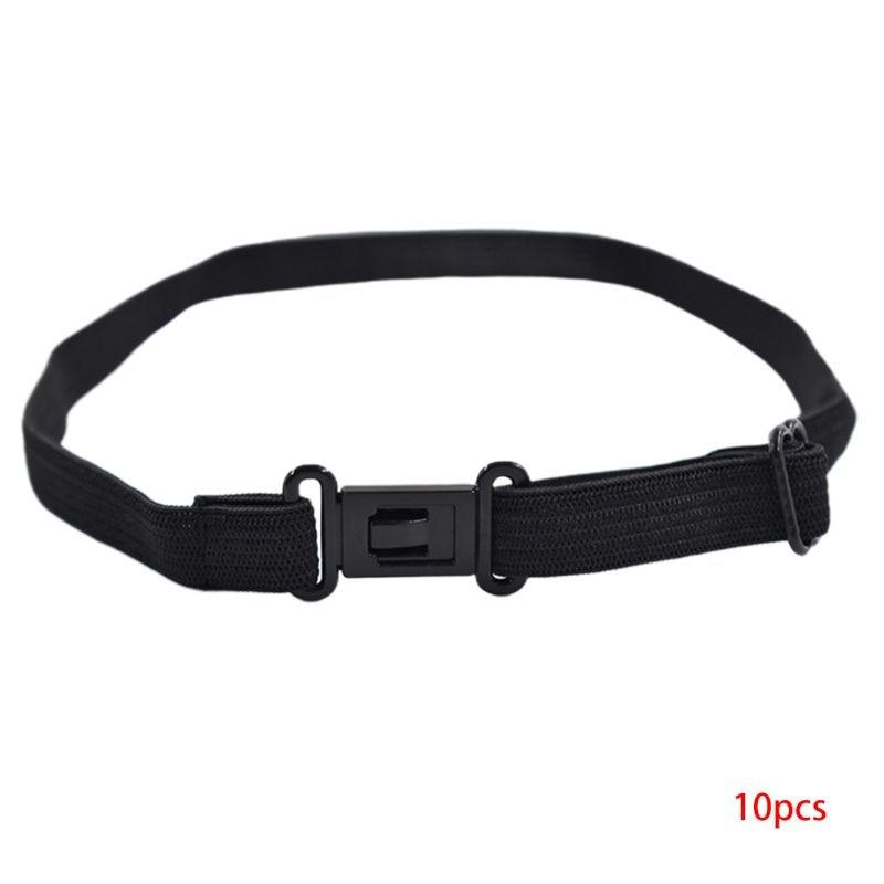 10 Pcs/Set Men Women Kids DIY Accessories Bow Tie Adjustable Polyester Belt With Clip Bowtie Black Elastic Strap Extender Bands