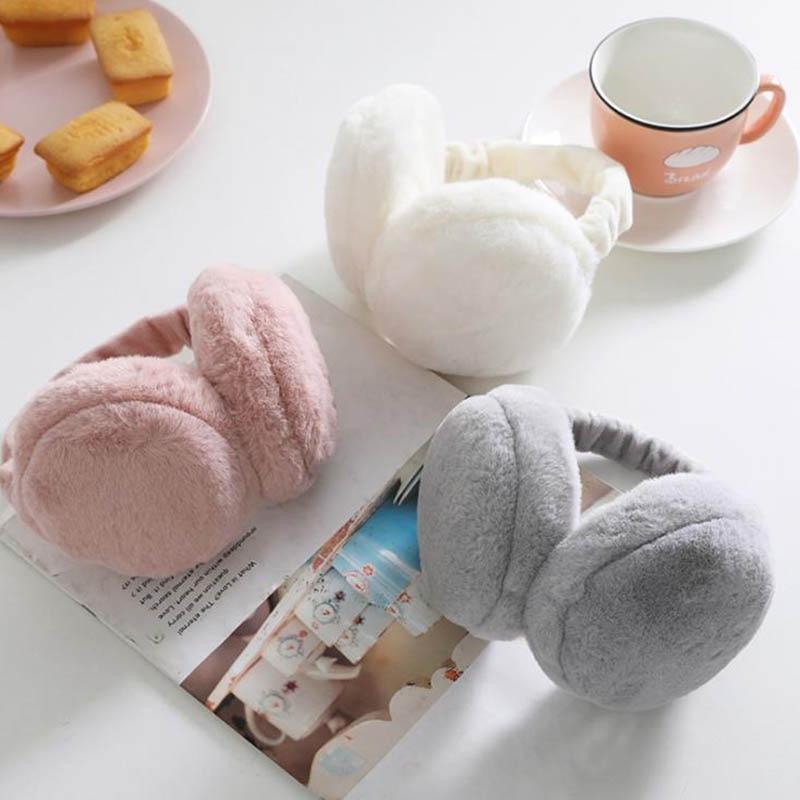 Calymel New Fashion Women Girl Fur Winter Ear Warmer Earmuffs Cat Ear Muffs Earlap Famale Earmuffs Headband Newest