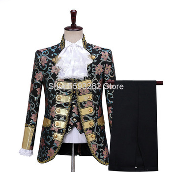New Men Court Dress Performance Clothing European Style Prince Charming Stage Drama Performance Clothing