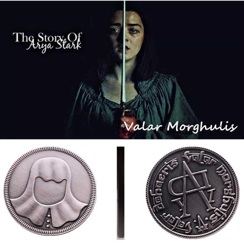 Halloween Een Lied Van Ijs En Vuur Game Of Thrones Faceless Coin Valar Morghulis Jaqen H'ghar Badge 1:1 Kerstcadeau