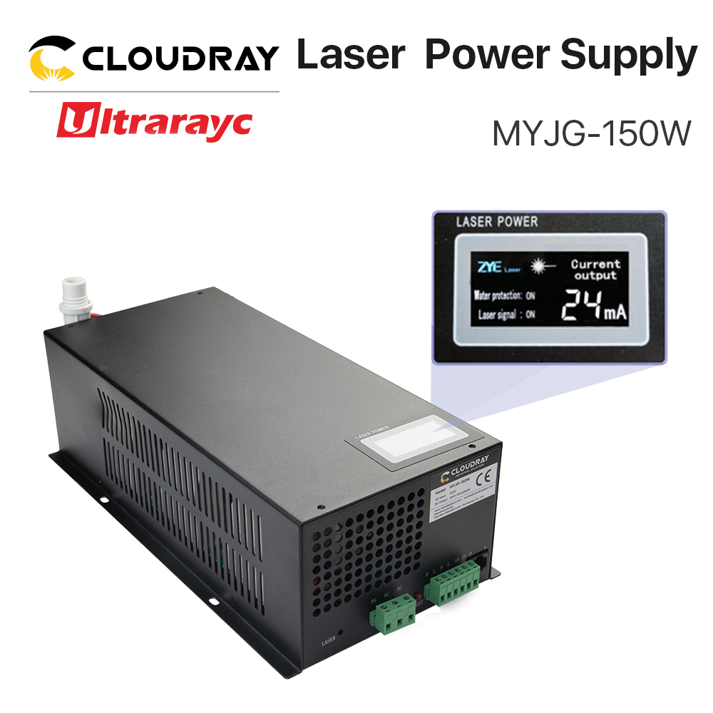 Ultrarayc 150W CO2 Laser Power Supply For CO2 Laser Engraving Cutting Machine MYJG-150 LED