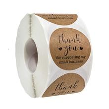 500 листов из крафт-бумаги спасибо за поддержку моего малого бизнеса наклейки круглые милые канцелярские