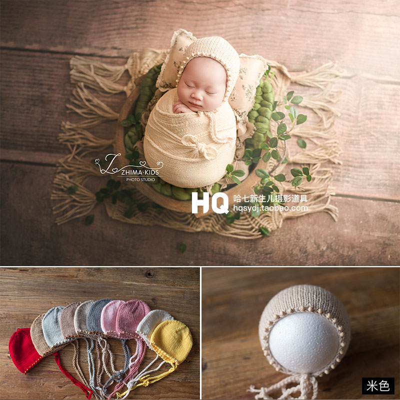 2020 Handmade Newborn Photography Hat Baby Photoshooting Props Knitted Mohair Hat Infant Photo Studio Hat And Cap Accessories