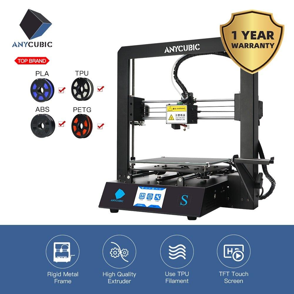 New 2019 Anycubic i3 Mega-S 3D Printer Upgrade 3d print Kits Plus Size Full Metal Touch Screen 3d Printer 3D Drucker Impresora(China)