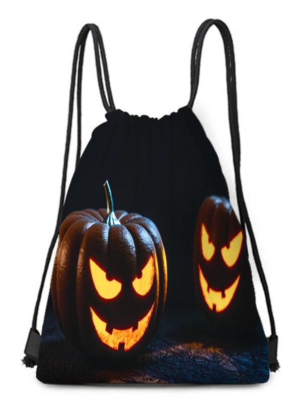 Wansheng Pumpkin Lamp Accessories Black Halloween Bundle Pocket