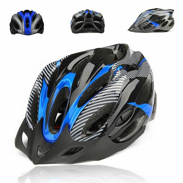 Capacetes ajustáveis de bicicleta, capacetes de ciclismo preto fosco para homens e mulheres, mountain bike e de estrada, totalmente moldados em 6 cores 4