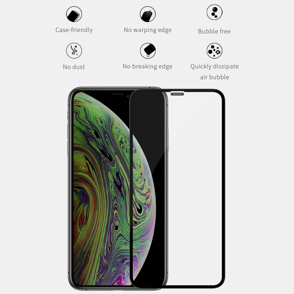 Nillkin XD Full Coverage 3D Safety Tempered Glass for iPhone 11 11 PRO 11 Pro Max X XR XS Max 8 7 Plus Glass Screen Protector