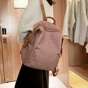 Image 5 - جديد Vintage المرأة على ظهره حقيبة كتف الإناث متعددة الأغراض حقيبة أنيقة ذات سعة كبيرة مدرسة حقيبة ظهر للفتيات كيس دوس