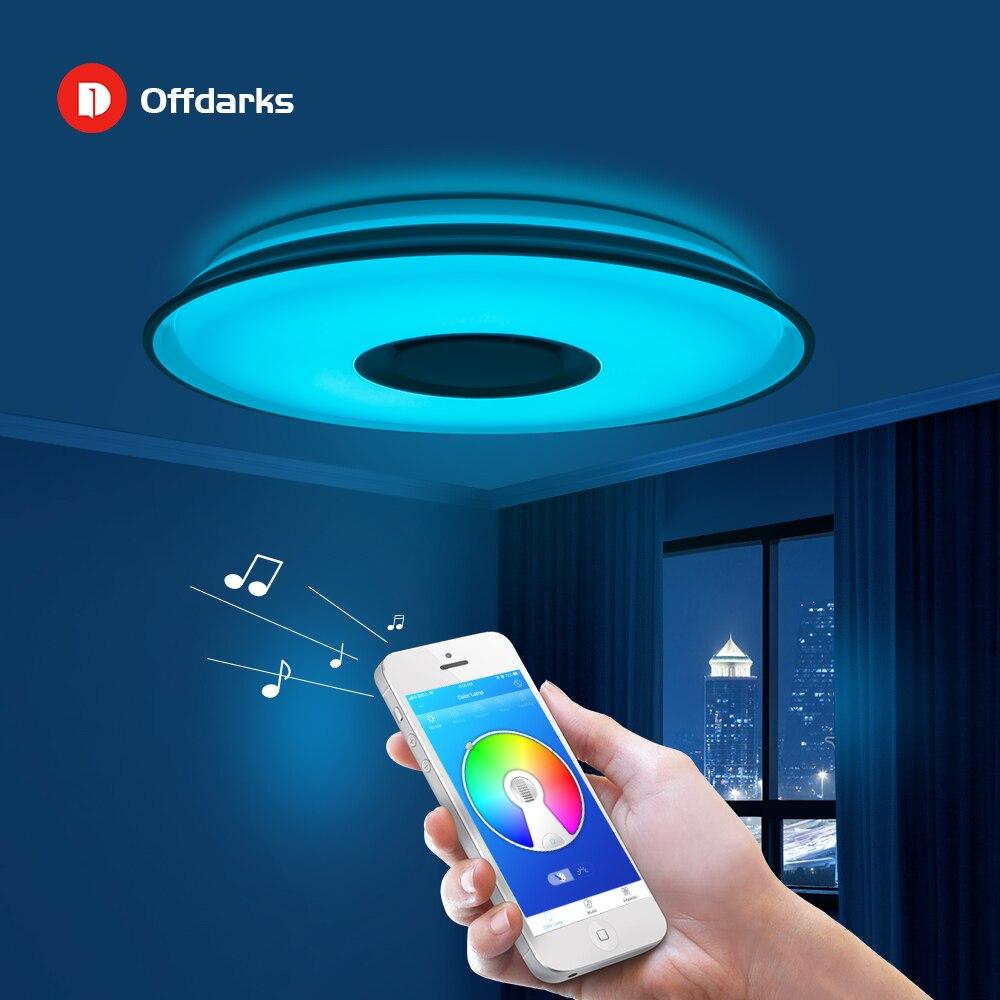 Modern LED Smart Ceiling Light 24W36W  APP Remote Control RGB Dimming Bluetooth Speaker Home Lighting AC90 260V|Ceiling Lights| |  - title=