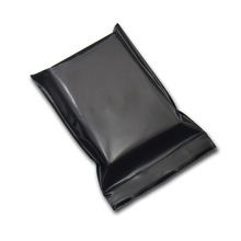 100Pcs Black Opaque Zip Lock Storage Packaging Bags Self Seal Zipper Packing Pouches Resealable Ziplock Sundries Package