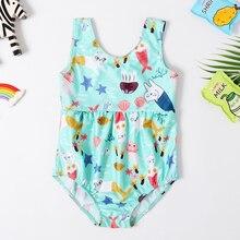 Новинка года; купальный костюм для маленьких девочек; слитный купальник для девочек; Классический Детский комбинезон с героями мультфильмов; купальник для животных; купальный костюм для девочек