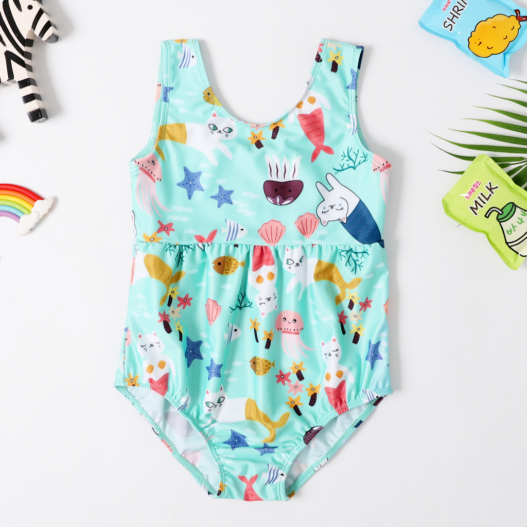 2020 New Baby Girl Swimsuit Girl's One Piece Swimwear Classic Children Bodysuit Carton Animal Swimsuit For Girl Bathing Suit
